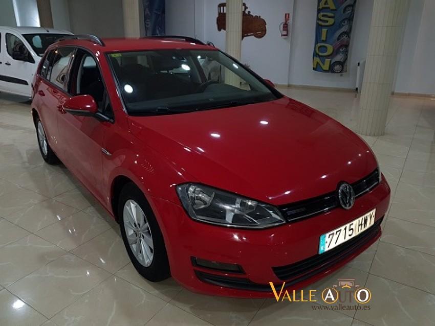 VOLKSWAGEN Golf VARIANT BUSINESS & NAVI 1.6 TDI 110CV Rojo Imagen